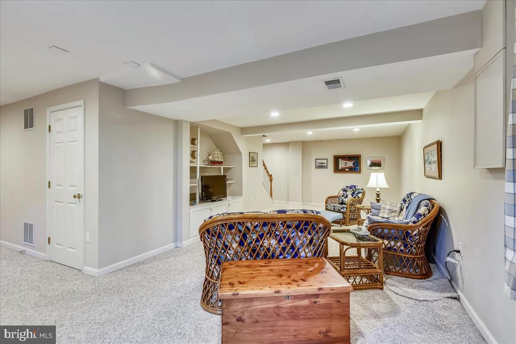 Recreation room with built ins - 14826 HUNTING PATH PL, CENTREVILLE