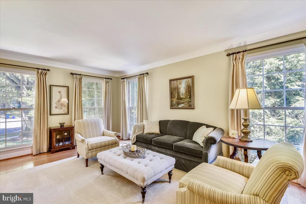 Living room w/hardwood floors - 14826 HUNTING PATH PL, CENTREVILLE
