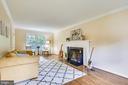 Beautifully updated fireplace! - 8327 STONEWALL DR, VIENNA