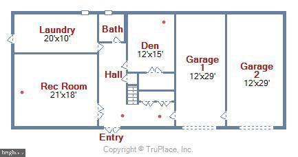 Floor Plan Main Level - 6811 WINTER LN, ANNANDALE