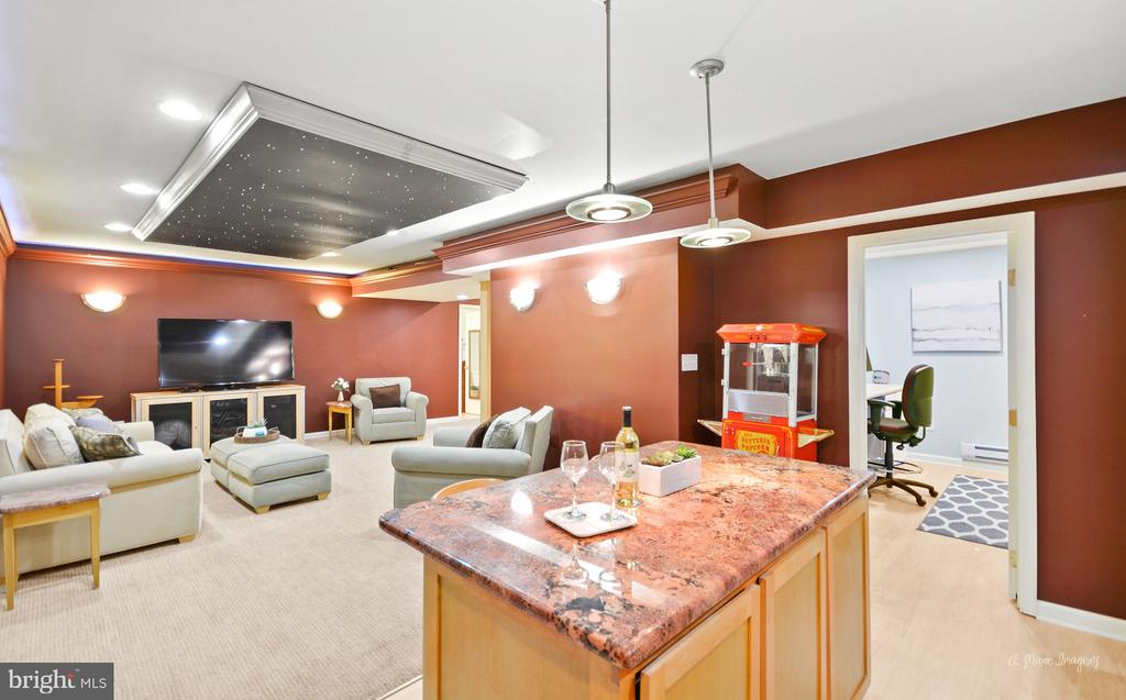 large finished basement perfect to entertain - 9801 BIG WOODS CT, IJAMSVILLE