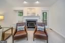 Liv Rm Fireplace with bench seat & mantle - 111 SILVER SPRING DR, LOCUST GROVE
