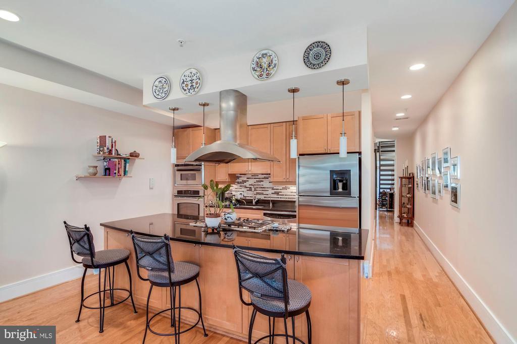 Kitchen view - 520 1/2 13TH ST SE #A, WASHINGTON