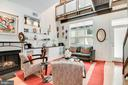 Formal living & entry with floating catwalk above - 520 1/2 13TH ST SE #A, WASHINGTON