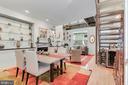 Dining to living & amazing custom floating shelves - 520 1/2 13TH ST SE #A, WASHINGTON