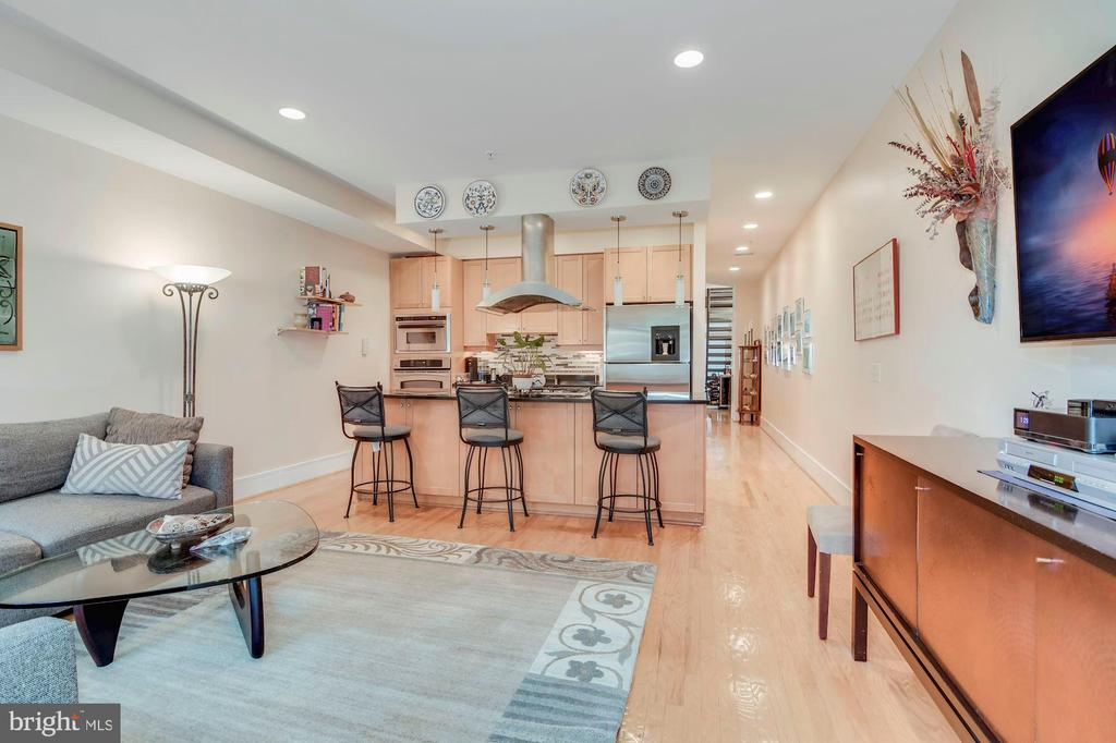 Family room to kitchen - 520 1/2 13TH ST SE #A, WASHINGTON