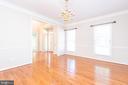 Formal dining room with hardwood floors - 6033 SUMNER RD, ALEXANDRIA