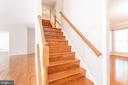 Kitchen stairs leading to common landing - 6033 SUMNER RD, ALEXANDRIA
