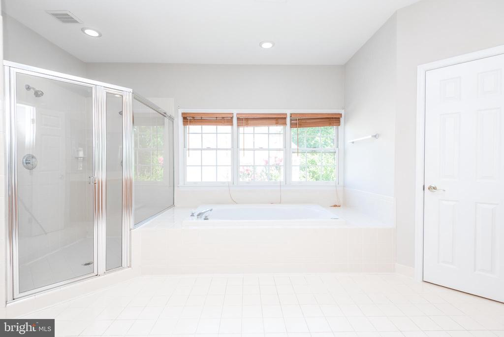 Primary bathroom with shower and soaking tub - 6033 SUMNER RD, ALEXANDRIA