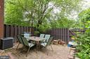 Private back patio - 1326 NORTHGATE SQ, RESTON