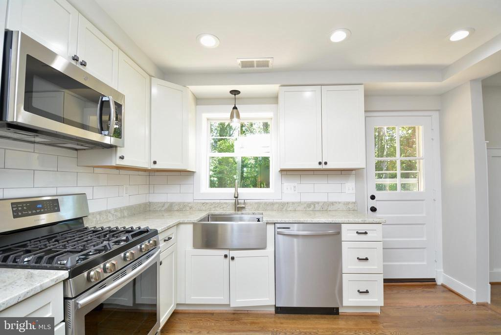 Bright recessed lighting. - 7416 LEIGHTON DR, FALLS CHURCH