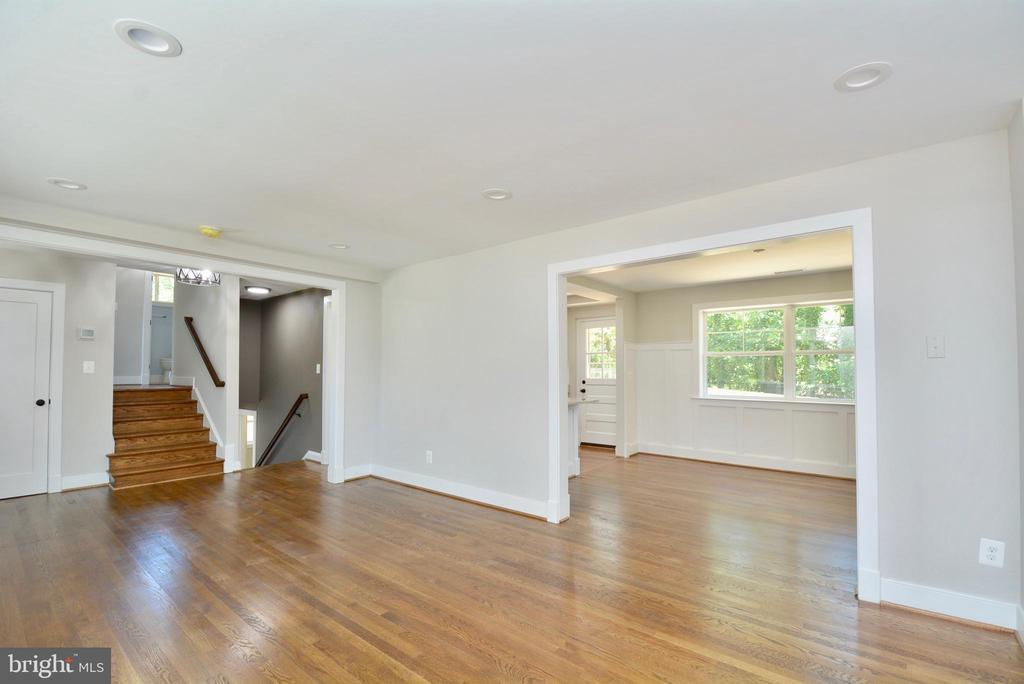 Refinished Hardwood Floors - 7416 LEIGHTON DR, FALLS CHURCH