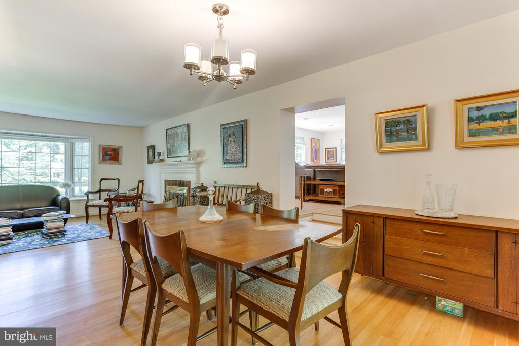 Dining Room with step up to Huge Family Rm - 805 GOLDEN ARROW ST, GREAT FALLS