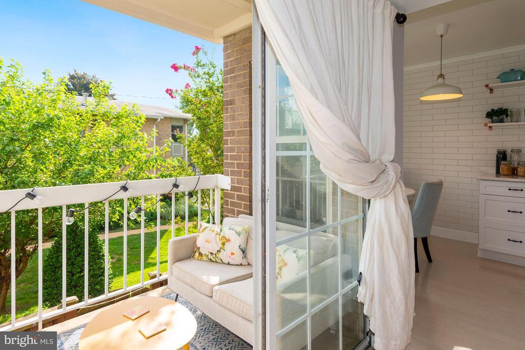 Living Room Opens Beautifully to Peaceful Balcony! - 1931 WILSON LN #102, MCLEAN