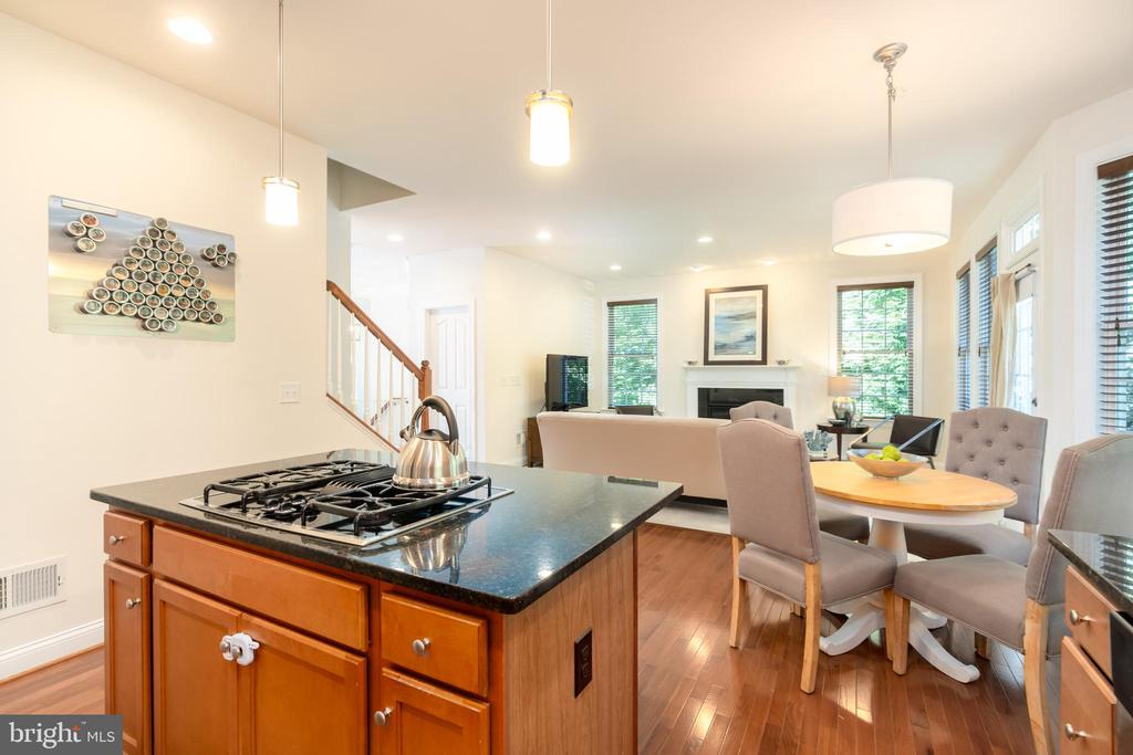 Open plan kitchen/family room/casual dining - 7142 DEGROFF CT, ANNANDALE