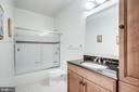 Full bathroom in Lower Level - 11604 TORI GLEN CT, HERNDON