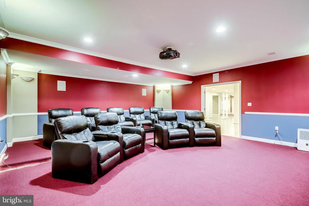 Theater room in Lower Level - 11604 TORI GLEN CT, HERNDON