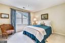 Bedroom #3 has double window to the back - 20405 EPWORTH CT, GAITHERSBURG