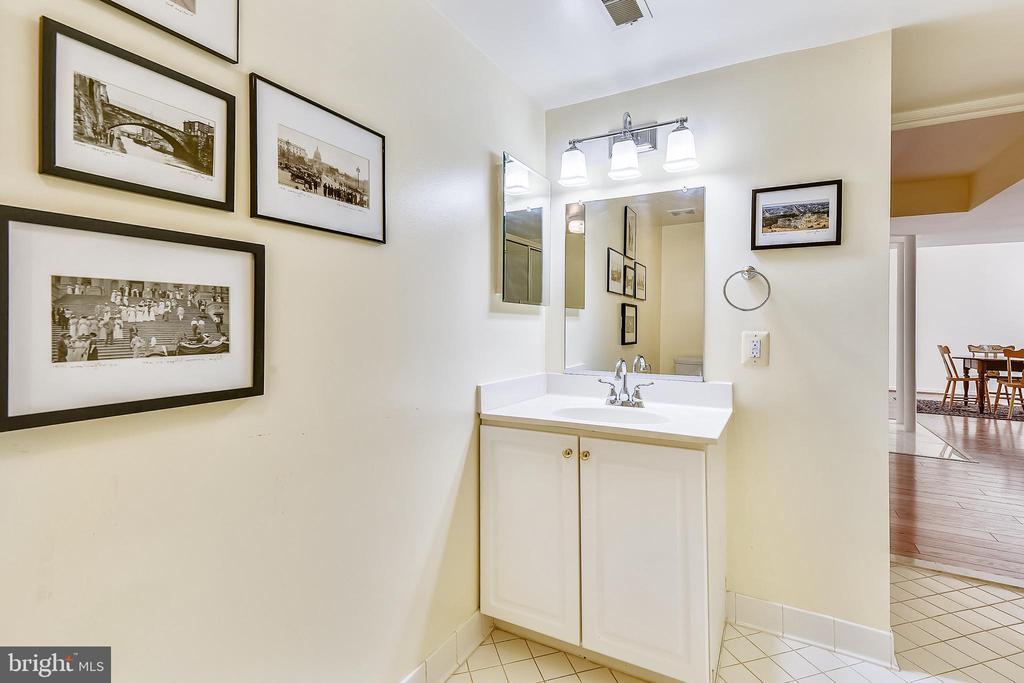 Lower level full bathroom vanity - 20405 EPWORTH CT, GAITHERSBURG