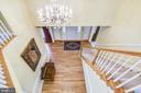 Upper level view of the foyer - 20405 EPWORTH CT, GAITHERSBURG
