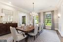 Formal Dinning room - 18692 RIVERLOOK CT, LEESBURG