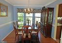 Formal Dining Room with Bay Window - 2314 COLTS BROOK DR, RESTON