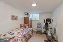 Lower Level Bedroom - 3001 FOXHALL RD NW, WASHINGTON