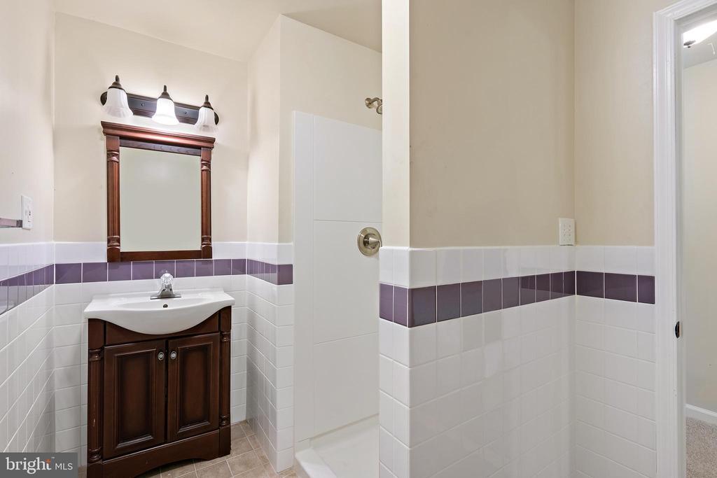 Lower level full bath - 7304 BACKLICK RD, SPRINGFIELD