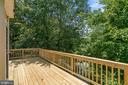 Upper level deck - 7304 BACKLICK RD, SPRINGFIELD