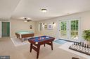 VS recreation room with walk out - 7304 BACKLICK RD, SPRINGFIELD