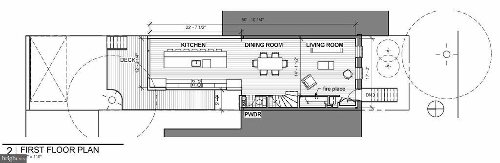 Main Level Floor Plan - 1714 10TH ST NW, WASHINGTON