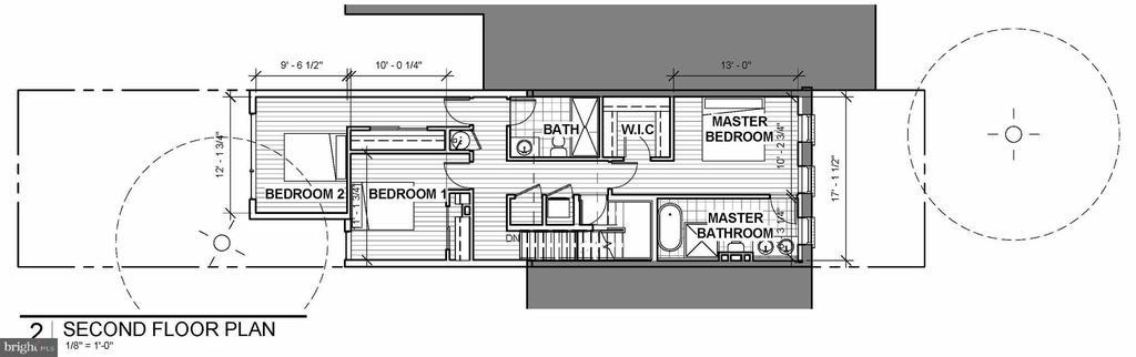 Upper Level Floor Plan - 1714 10TH ST NW, WASHINGTON