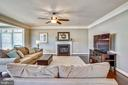 FAMILY ROOM, GAS FIREPLACE - 6444 ROCK HOLLOW LN, CLIFTON