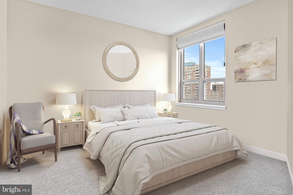 Spacious and airy master with 9ft ceilings - 888 N QUINCY ST #1506, ARLINGTON