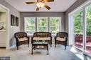 Enjoy your .49 acre lot from the sunroom - 5708 GLENWOOD CT, ALEXANDRIA