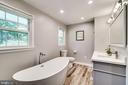 Lovely new master bath - 5708 GLENWOOD CT, ALEXANDRIA