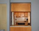 View from dinning room into the kitchen - 401 E DARTMOUTH DR #8, STERLING