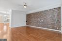 View of Living Room to Dining Area - 3518 10TH ST NW #B, WASHINGTON
