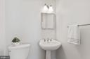 Powder Room - Main Level - 3518 10TH ST NW #B, WASHINGTON