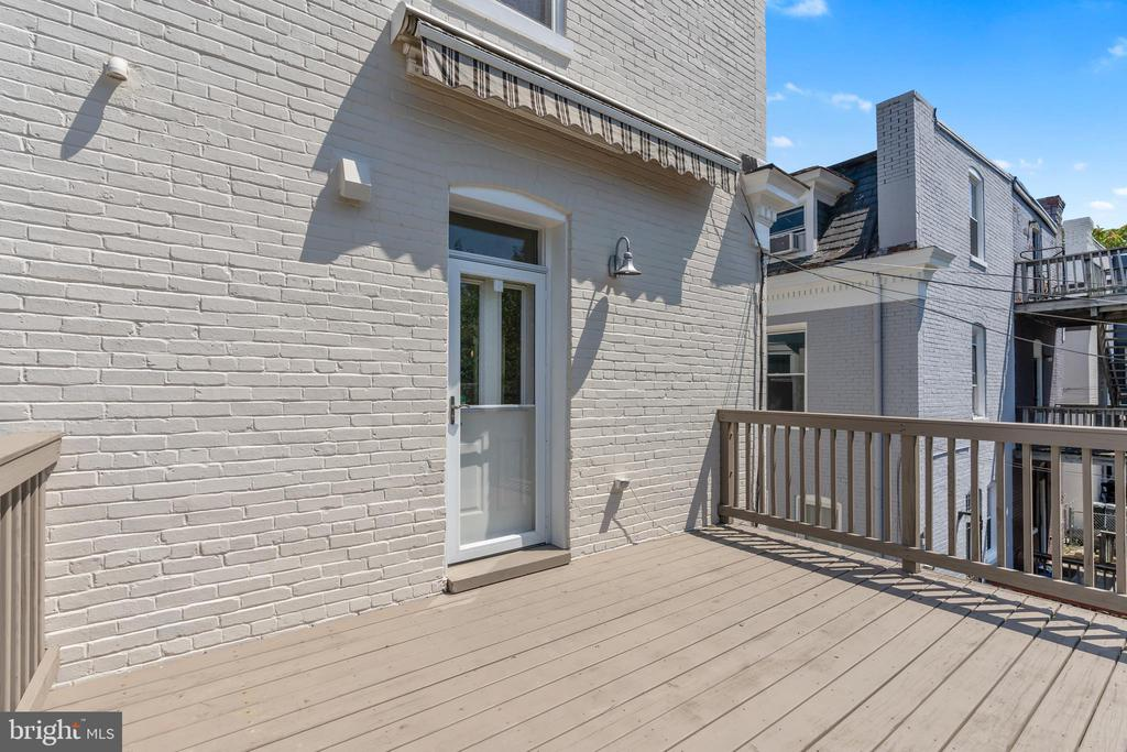 Deck View of Rear Access - 3518 10TH ST NW #B, WASHINGTON