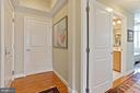 Unit entrance on left, half bath ahead - 1000 N RANDOLPH ST #809, ARLINGTON