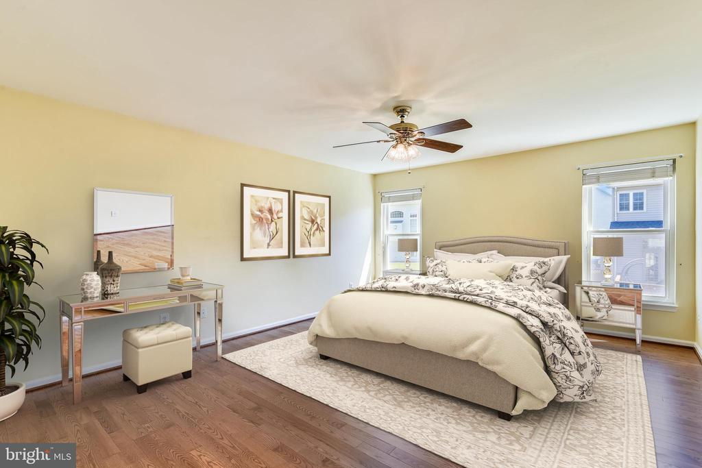 Master Bedroom virtually staged - 14091 EAGLE CHASE CIR, CHANTILLY