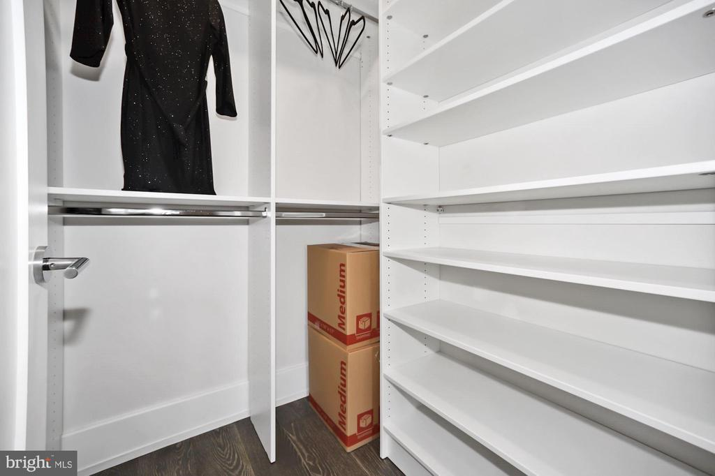 Custom closets throughout - 407 RANDOLPH ST NW #1, WASHINGTON