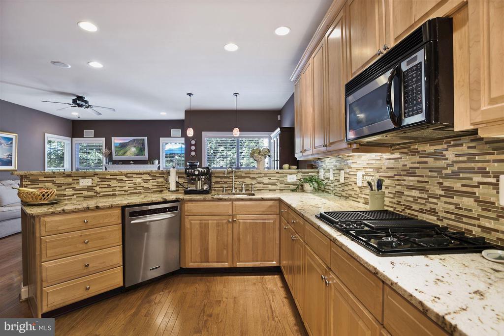 Granite counters and tile backsplash - 20157 VALHALLA SQ, ASHBURN