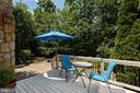 Deck and patio backing to private treed area - 20157 VALHALLA SQ, ASHBURN