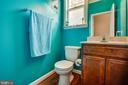 Guest half bath on main floor - 3110 RIVERVIEW DR, COLONIAL BEACH