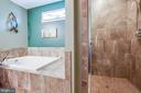 Separate tile shower and tub - 3110 RIVERVIEW DR, COLONIAL BEACH