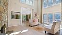 Living room with walls of glass - 10717 MEADOWOOD DR, VIENNA