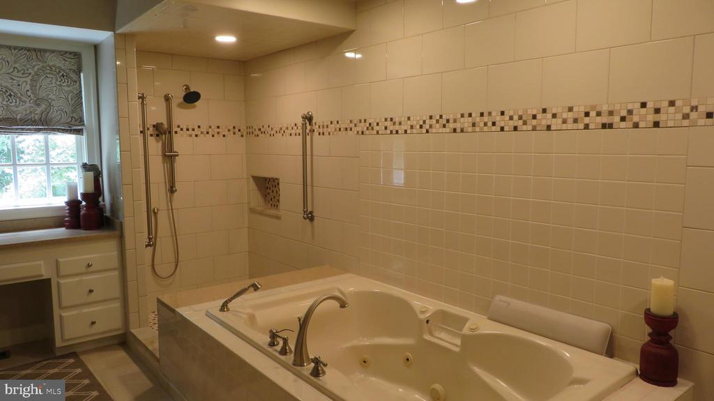 Jetted Tub in Master Bath with left shower - 25 CLOREVIA LN, FLINT HILL