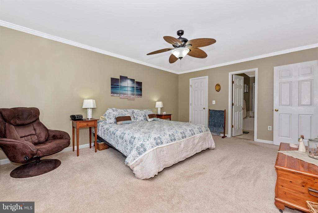 Master Bedroom with huge walk in closet - 18 GRAY FOX CT, MIDDLETOWN